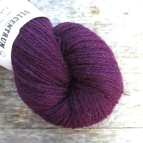 Ullcentrum 2ply Solid - Plum