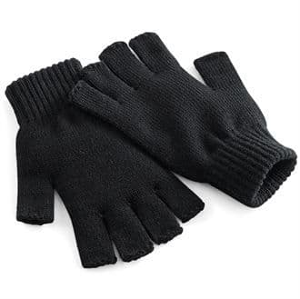 Fingerless Knit Gloves Black