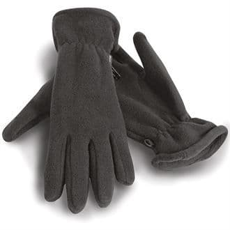 Heavyweight Fleece Gloves Black