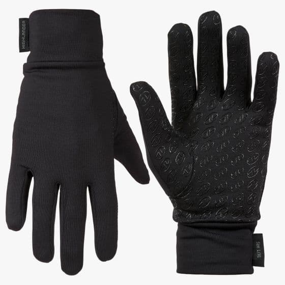 Highlander Stretch Grip Black Gloves