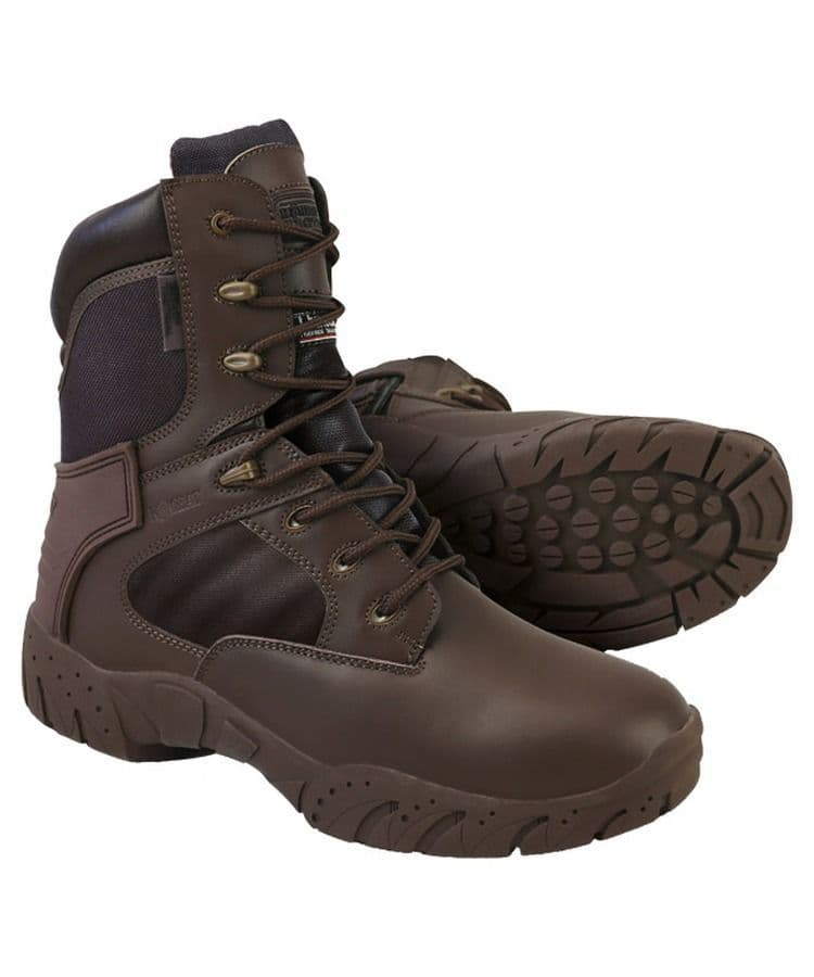 Kombat UK Cadet Tactical Boots Brown BRAND NEW