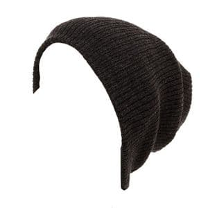 Black Mens Oversized Beanie Hat - Rib Knitted | It's My Hat