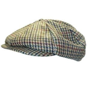 Classic Country Tweed 8 Panel Gatsby Cap -  Bakerboy Hat