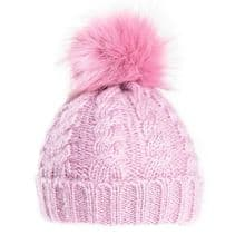 Ladies Bobble Hat - Chunky Winter Beanie Pink
