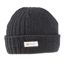 Men's Chunky Thinsulate Thick Woolly Beanie Hat - Black