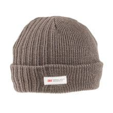 Men's Chunky Thinsulate Thick Woolly Beanie Hat - Grey