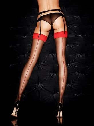 plain topped seamed stockings