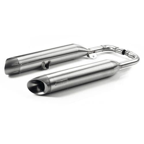 BRUSHED VANCE & HINES STAINLESS STEEL SILENCERS - US