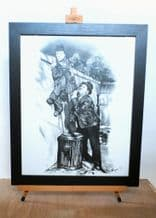 Large Laurel And Hardy Print By Peter Finnigan  (1991)