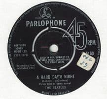The Beatles - A hard days night c/w Things we said today
