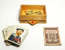 Wooden Playing Card Box With Trumps Marker, Cards And Games Booklet