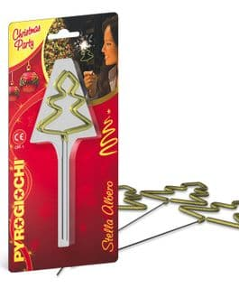 Gold dipped Christmas Tree sparklers (pack of 4)