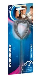Heart shaped sparklers (pack of 4)