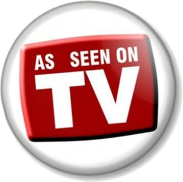 AS SEEN ON TV - Television Star Celebrity or badge to advertise Edit Edit Product