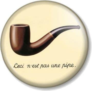 Ceci n'est pas une pipe Pinback Button Badge French quote This is not a pipe René Magritte