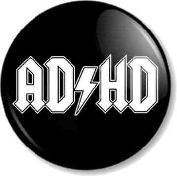 AD/HD - AC/DC Band Logo Spoof Attention Deficit Hyperactivity Disorder