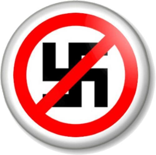 Anti Nazi Pinback Button Badge Anti-fascism Stop Racism Political Protest for Equality