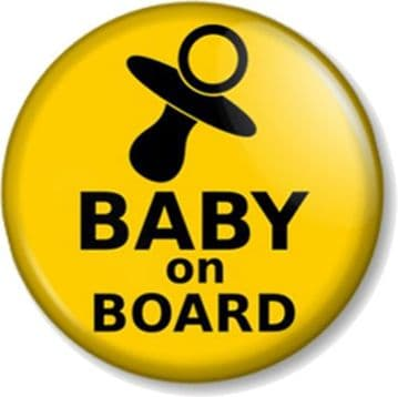 BABY ON BOARD Pinback Button Badge Pregnant Mother Mum to Be Shower Dummy Gift