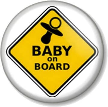 BABY ON BOARD SIGN Pinback Button Badge - Mother Mum to Be Shower Gift Present Dummy