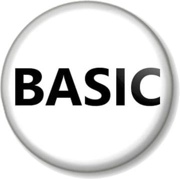 BASIC Pinback Button Badge Humour Novelty Funny Geek Emo Mean Girls Basic Bitch