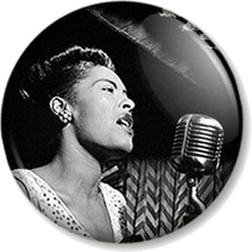 Billie Holiday Pin Button Badge - Lady Day American Jazz Singer Songwriter