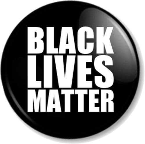 Black Lives Matter Pin Button Badge Stop Racism Resist Fight for Justice Challenge Inequality BLM