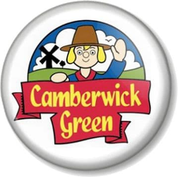 Camberwick Green Pin Button Badge Retro Kids TV Stop motion  Windy Miller
