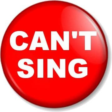 CAN'T SING - Pin Button Badge Novelty Pin for the tone deaf