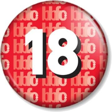 Certified 18 - 18th Birthday Pin Button Badge or Magnet - 18 Years Old Gift / Present