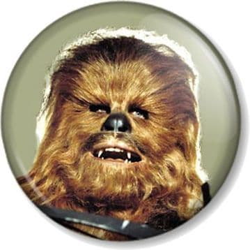 Chewbacca Pinback Button Badge Star Wars Character Movies Films Geek Chewie Wookie