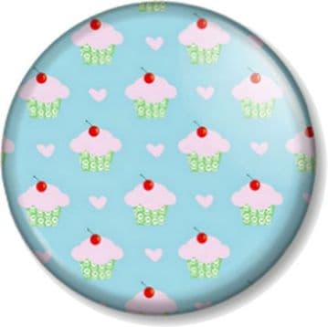 Cupcakes Pinback Button Badge Pattern Cute Retro Vintage Sweet Novelty Fun