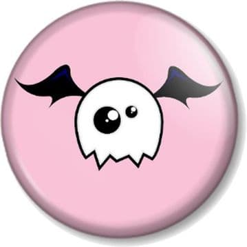 Cute Monster Pinback Button Badge Halloween Skull Ghost Bat Pink Emo Novelty