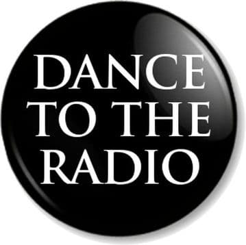 DANCE TO THE RADIO Joy Division Pinback Button Badge Transmission Song Band - Black