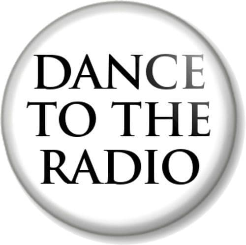 DANCE TO THE RADIO Joy Division Pinback Button Badge Transmission Song Band - White