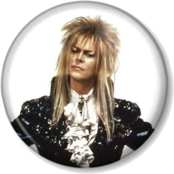 DAVID BOWIE THE GOBLIN KING LABYRINTH Pinback Button Badge Movie Film (1)