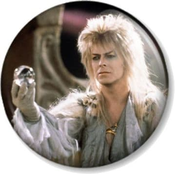 DAVID BOWIE THE GOBLIN KING LABYRINTH Pinback Button Badge Movie Film (2)