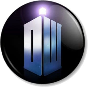 DR WHO Logo Pinback Button Badge Time Space Traveller TV SHOW Time Lord Doctor