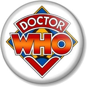 DR WHO Logo - Retro Design Pinback Button Badge Time Space Traveller TV SHOW Time Lord Doctor