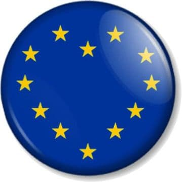 EU Heart Referendum Vote European Union Flag Pinback Button Badge Brexit Remain