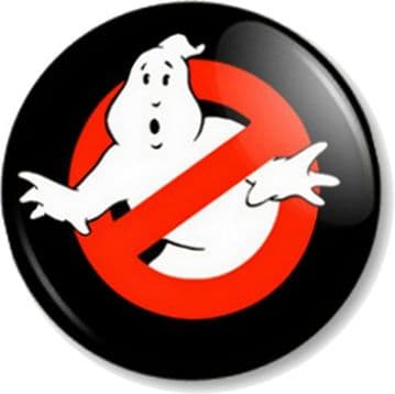 Ghostbusters 25mm Pin Button Badge Retro Movie Logo Film Comedy 1980s Funny Geek