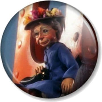 Grandma Tracy (Design 2) Thunderbirds Pinback Button Badge Tracy Island Puppet Character