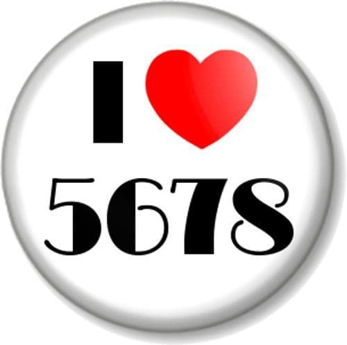 I Love / Heart 5678 Pinback Button Badge Musical Theatre Dance Count in Steps