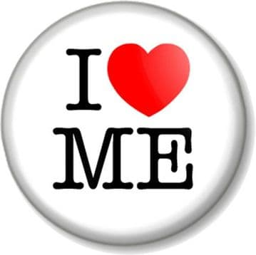 I Love / Heart ME Pinback Button Badge Self Love Confidence Mental Health