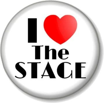 I Love / Heart THE STAGE Pinback Button Badge Actor Singer Dancer Performer