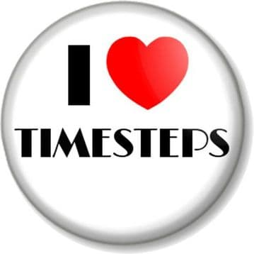 I Love / Heart TIMESTEPS Pinback Button Badge Dance Dancing Dancer Stage Tap Rehearsals