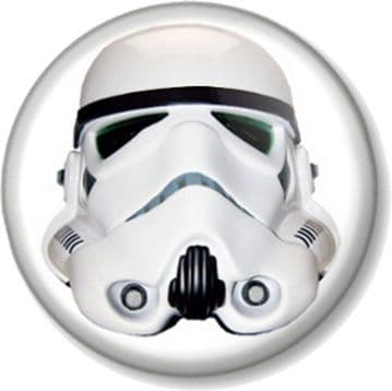 Imperial Stormtrooper Head Pinback Button Badge Star Wars Character Movies