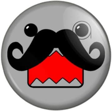 Moustached Monacle Face Pinback Button Badge Movember Tash Novelty Hipster