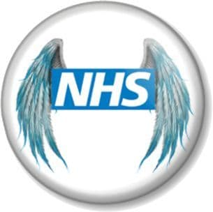 NHS Angels Pin Button Badge Save The National Health Service Key Worker Our Heroes Angel Wings
