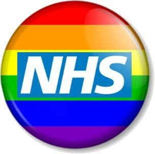 NHS Pin Button Badge Save The National Health Service Key Worker Our Heroes - Rainbow Flag Pride