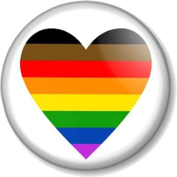 Rainbow Flag  Heart Badge or Magnet  Various Sizes Gay Pride LGBTQ Fight for Gay Rights and Equality (1)